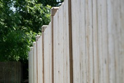 New White Cedar Fencing with Fence Panels and Posts