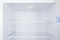 New white refrigerator isolated on white background
