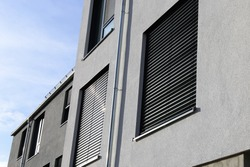 New window with shutter (exterior shot)