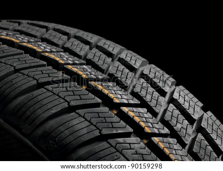 New winter tire closeup