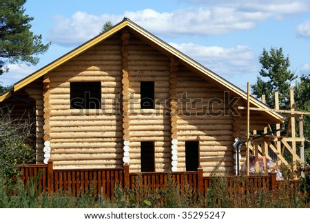 New wooden house in the Nylova Pustyn, Seliger, Russia