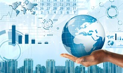 New world technology, globalization concept
