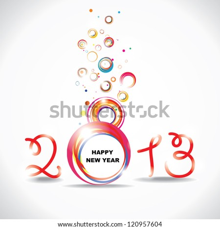 New year 2013 . Abstract poster. Raster version