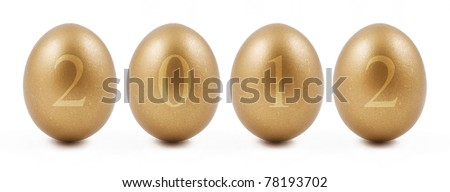 New Year Abstract with Golden Eggs