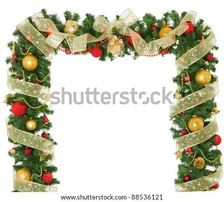 New Year and Christmas border design.