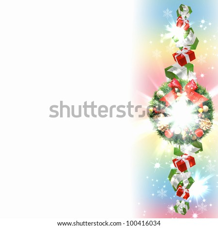New Year and Christmas decoration against white background #100416034