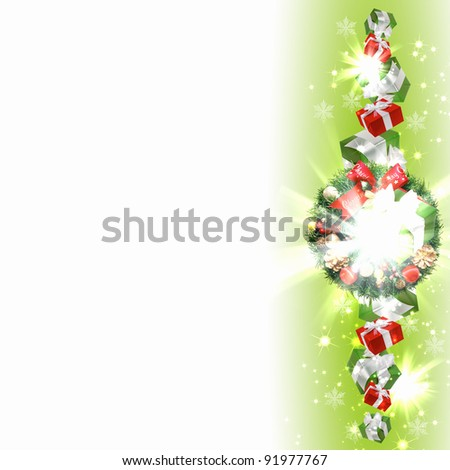 New Year and Christmas decoration against white background #91977767