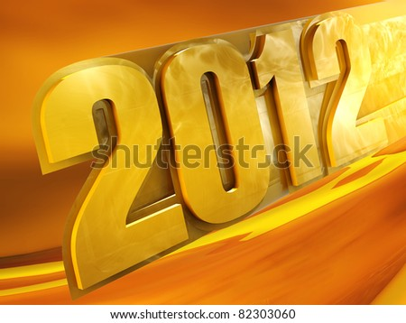 New 2012 year background.