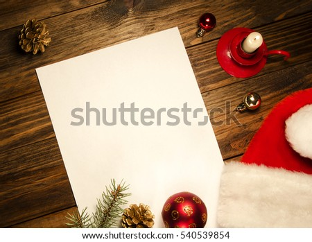 New Year Background Santa letter message
