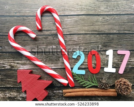 new year background sweet new year love on wooden background 2017 christmas candy