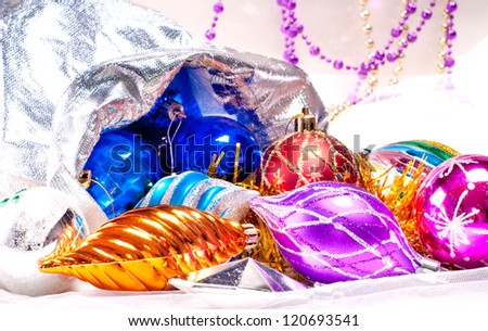 New year background with beautiful color decorations for holiday design