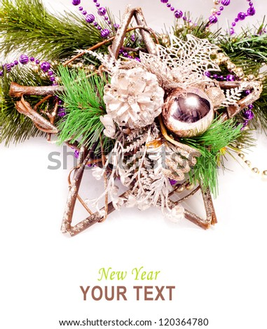 New year background with star decorations for holiday design