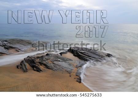 New Year 2017 - Beach #545275633