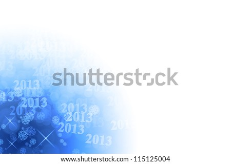 New year 2013 blue background