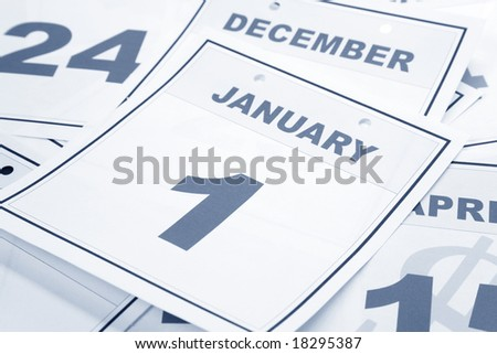 New Year, calendar date January 1 for background