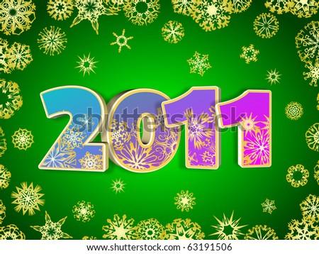 New 2011 year card