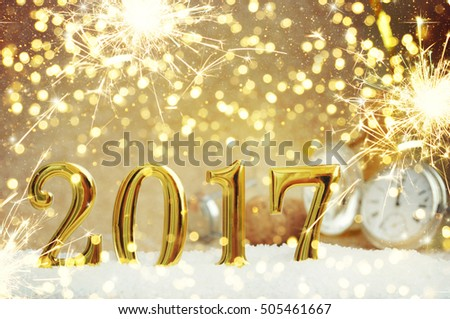 New Year Celebration, christmas tree background with bokeh. #505461667