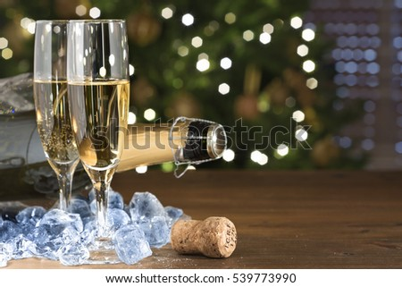 New Year champagne ice #539773990