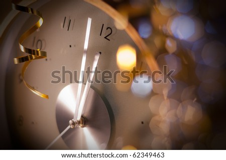 new year clock - stock photo