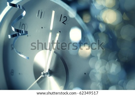 new year clock acid version