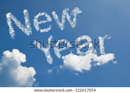 new year cloud shape