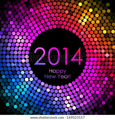 New Year 2014 - Colorful Disco Lights Background