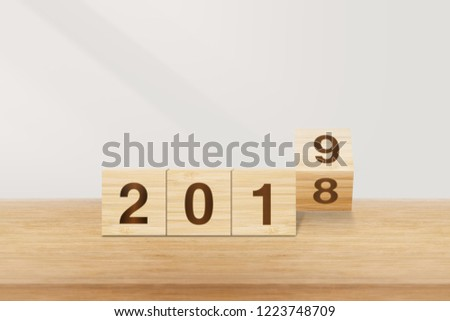 New Year 2019 Concept  #1223748709