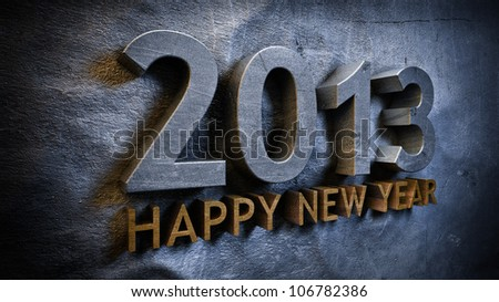 New year 2013 concept in 3d