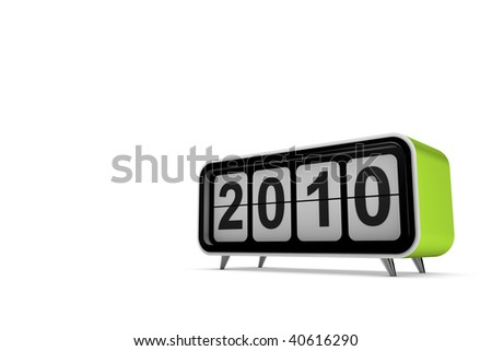 New year 2010 concept in 3d