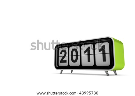 New year 2011 concept in 3d