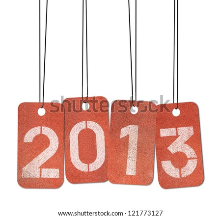 New Year 2013. Concept on track number.