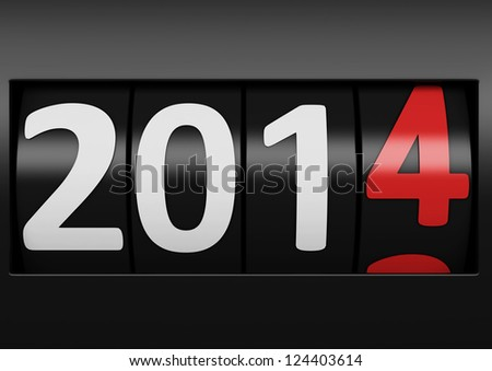 new year 2014 counter