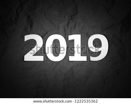 New Year 2019 Creative Design Concept - 3D Rendered Image #1222535362