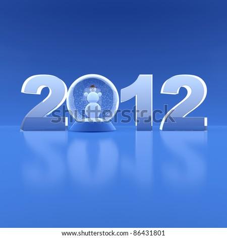 New Year 2012. 3d illustration