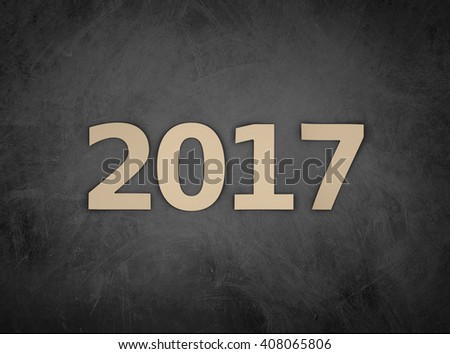 New Year 2017 - 3D Rendered Image #408065806