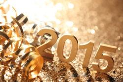 New year decoration,Closeup on 2015.