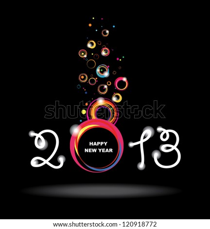 New year 2013 design. Abstract poster. Raster version