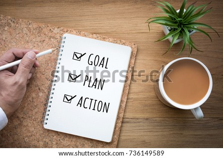 new year 2018 goal plan action...