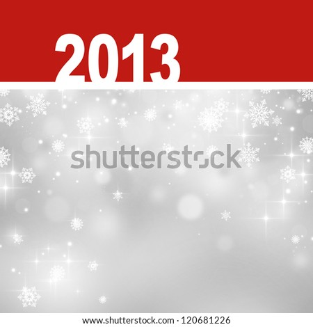 New 2013 year greeting card