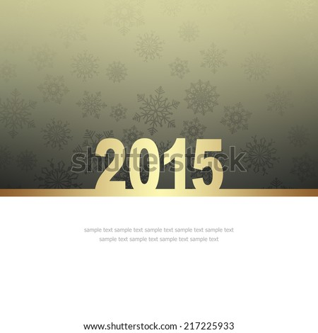 New Year Greeting Card with snowflakes and place for text #217225933