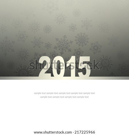 New Year Greeting Card with snowflakes and place for text #217225966