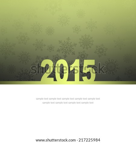 New Year Greeting Card with snowflakes and place for text #217225984