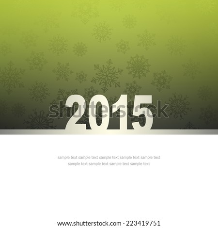 New Year Greeting Card with snowflakes and place for text #223419751