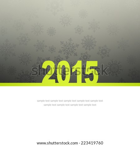 New Year Greeting Card with snowflakes and place for text #223419760