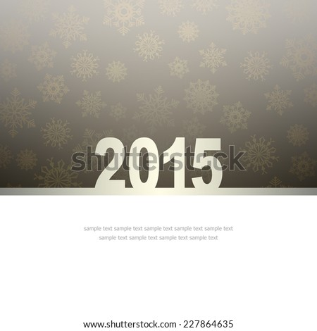New Year Greeting Card with snowflakes and place for text #227864635