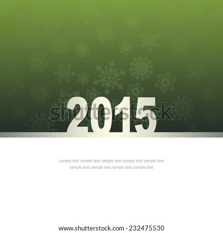 New Year Greeting Card with snowflakes and place for text #232475530
