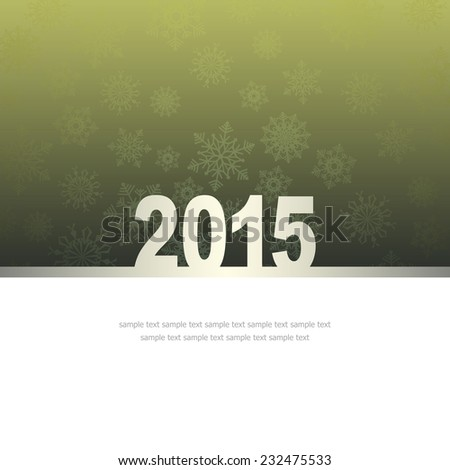 New Year Greeting Card with snowflakes and place for text #232475533