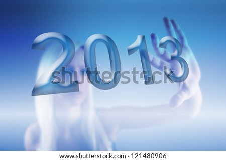 New 2013 year greeting concept made in original style, 2013, happy new year.