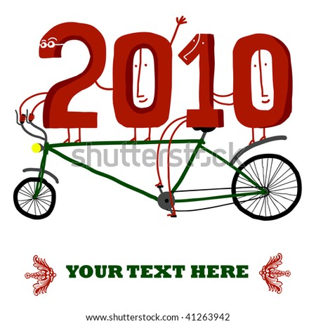 New Year in a bicycle