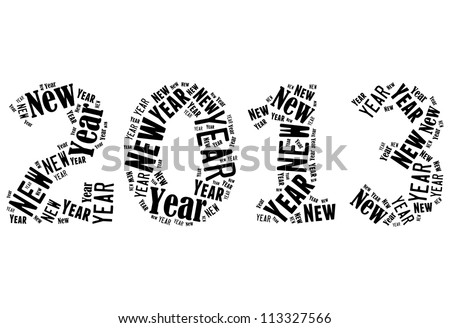 New year 2013 info-text graphics arrangement on white background